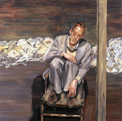 """Red-Haired Man on a Chair""- Lucian Freud, 1962-1963"
